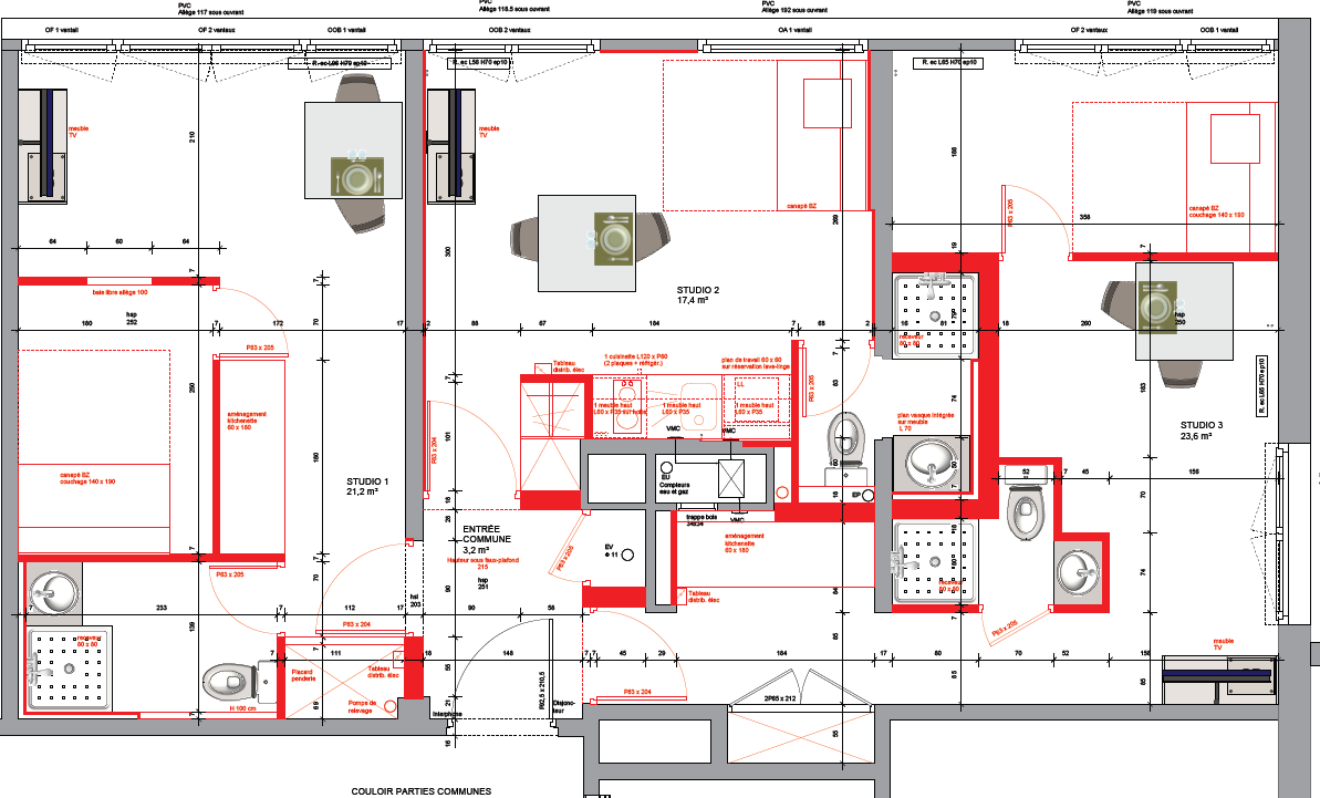 Division appartement plan apres travaux louergagnant - Probleme d humidite appartement ...